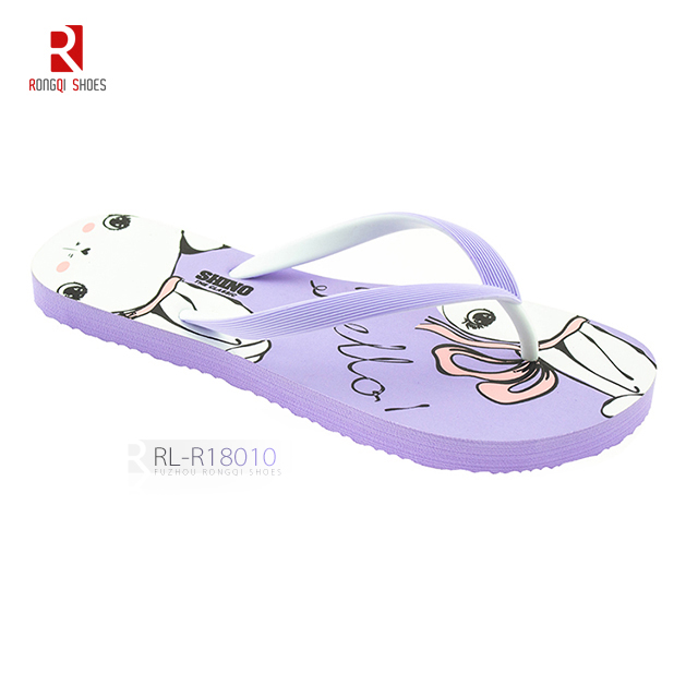 Factory latest made new double color strap women flip flop slipper