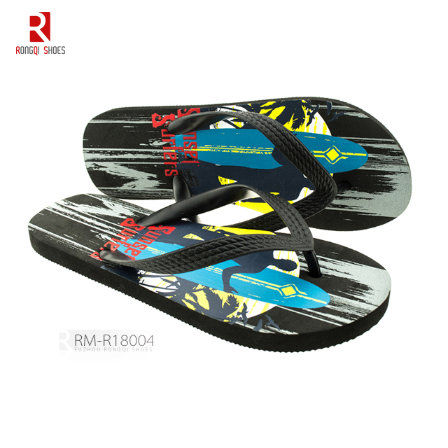 China wholesale price fancy PE men's flip-flops