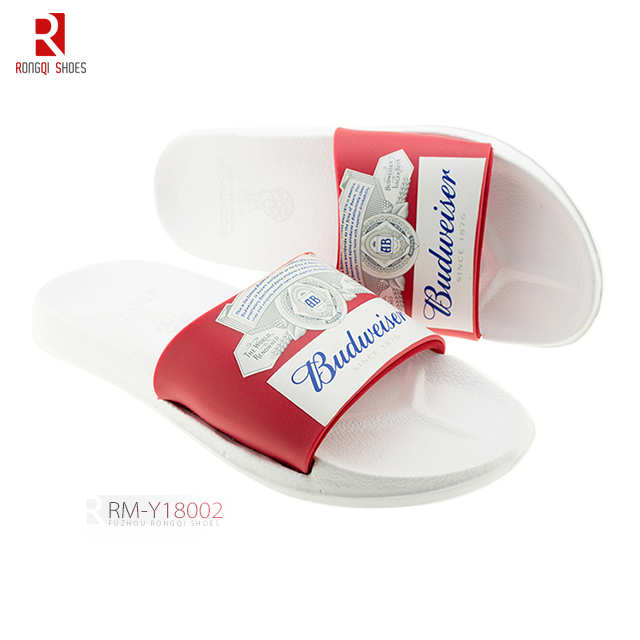 OEM PVC open-toe men's promotional slide slippers
