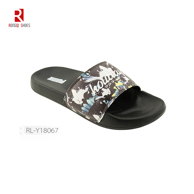 Pu upper eva outsole cheap manufactory women slider slippers