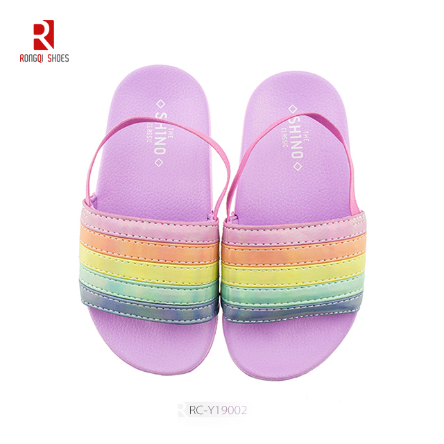Toddler Boys & Girls Beach/Pool Slides Sandals With Back Straps Unique Cataphract Shape Upper