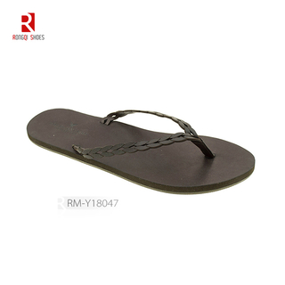 Wholesale Bohemia PU outsole beach slippers customized men flip flops